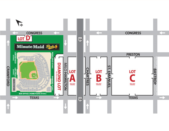 Directions to Minute Maid Parking Lots - University of